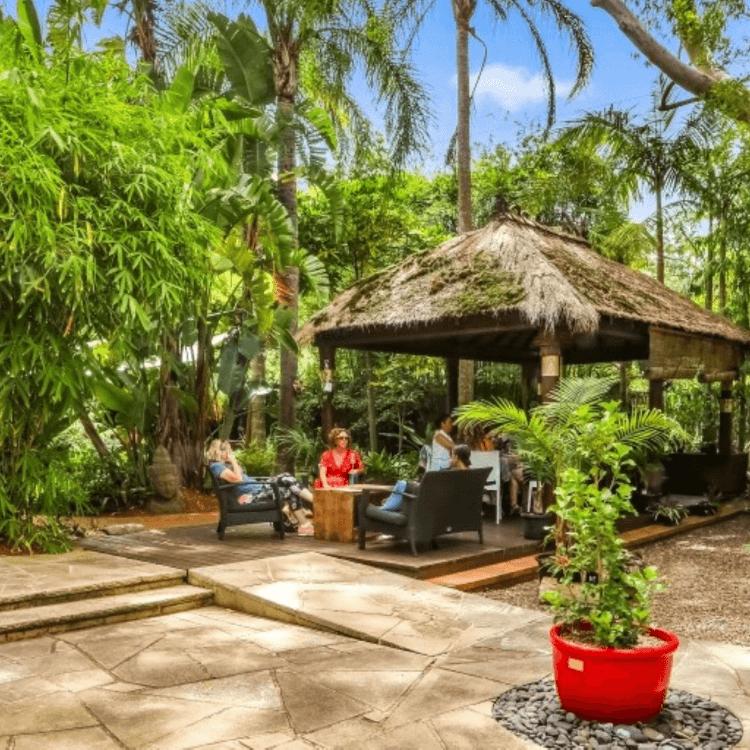 bamboo buddha outdoor garden